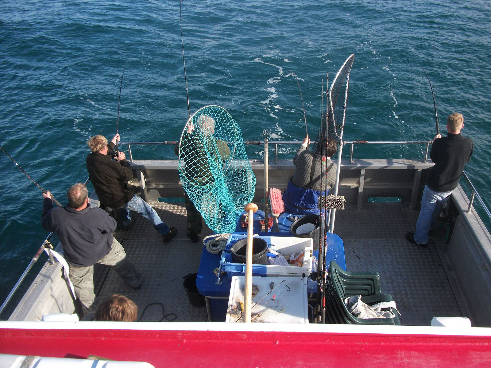 Group fishing on Silver Spray